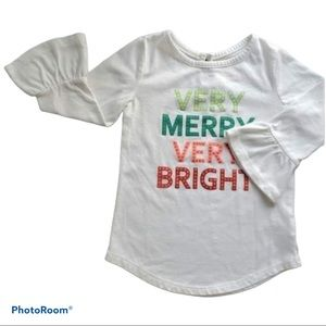 Very Merry Very Bright White Bell Sleeve T-Shirt